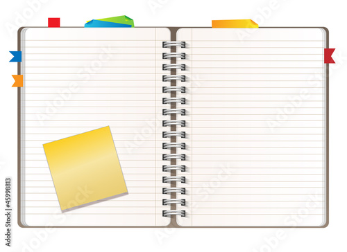 Blank diary page\ - blank diary page