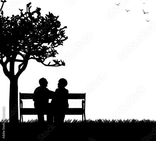Lonely Girl Wallpaper Com Quot Lovely Retired Elderly Couple Sitting On Bench In Park