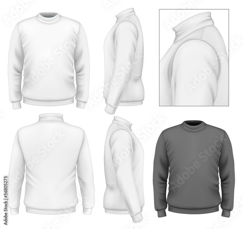 Men\u0027s sweater design template\