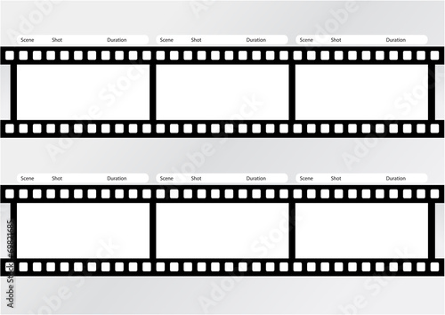 Professional of storyboard film strip template\