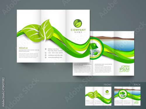 Professional tri-fold brochure, flyer or template for ecology
