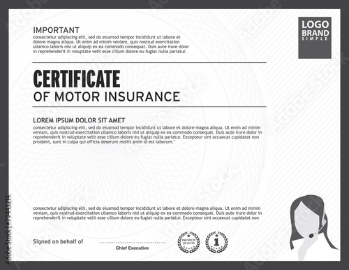 certificate of motor insurance template\ - certificate of insurance template