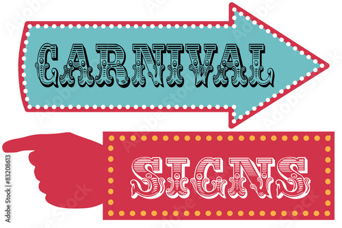 Carnival sign template direction signs\
