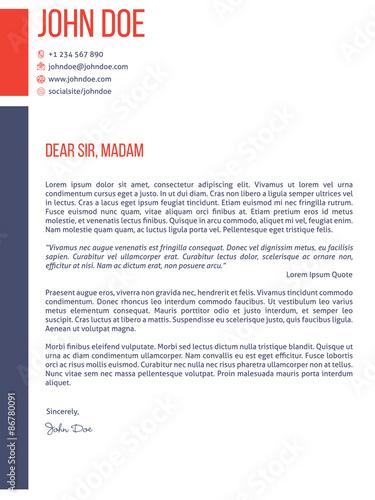 Simplistic yet modern cover letter cv resume template\