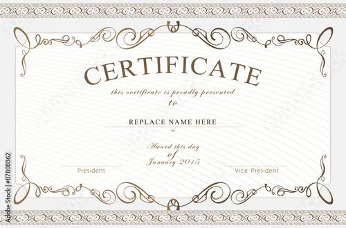 Certificate border, Certificate template vector illustration\
