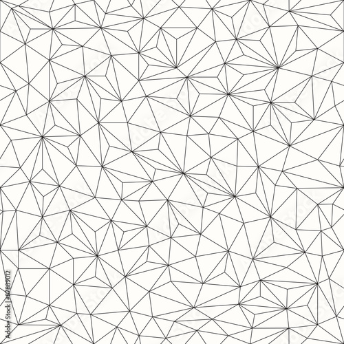 Triangles background, seamless pattern, line design\