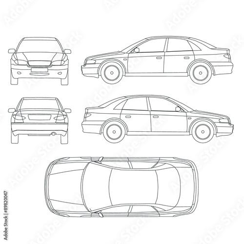 vector diagrama de cableado de autos