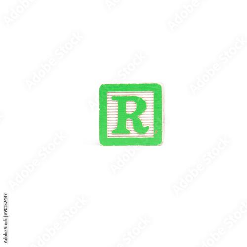 Letter R Block\
