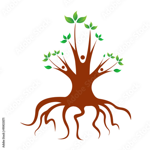 Abstract family tree design isolated on white background\