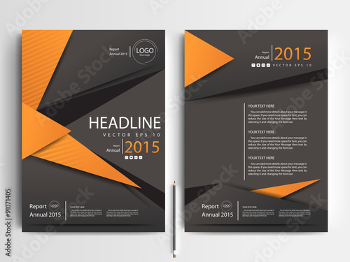 Abstract vector modern\/ flyer design \/ brochure design template - contemporary flyer