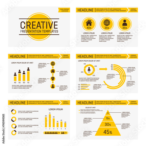 Vector template for multipurpose presentation slides with graphs and - graph paper powerpoint