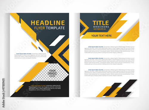 flyer brochure design template abstractEditable site for business