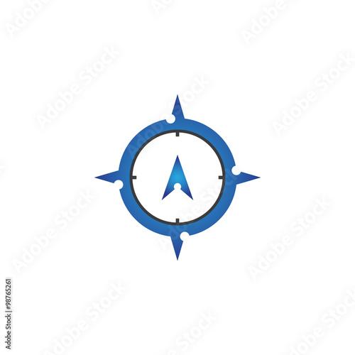 Modern Compass Design Logo Object\