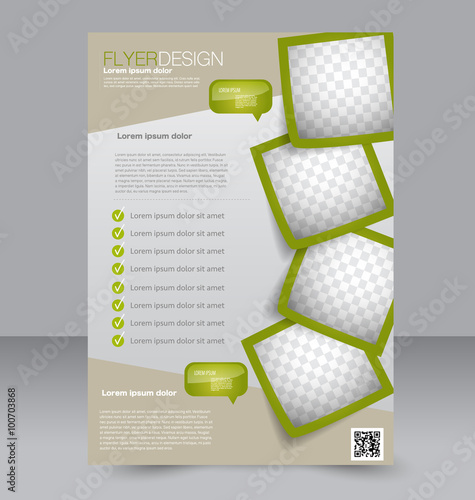 Flyer template Brochure design Editable A4 poster for business