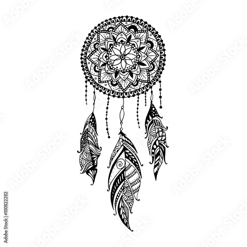 Batman Phone Wallpaper Quote Quot Hand Drawn Mandala Dreamcatcher With Feathers Ethnic
