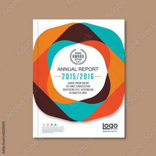 Abstract brochure or flyer design template Book design, blank