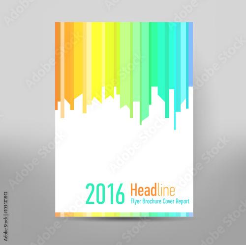 Modern Cover Annual Report Brochure - business brochure - Catalog