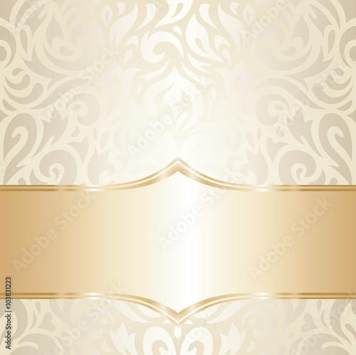 Graphic Designer Quote Wallpaper Quot Gorgeous Golden Floral Wedding Vintage Wallpaper