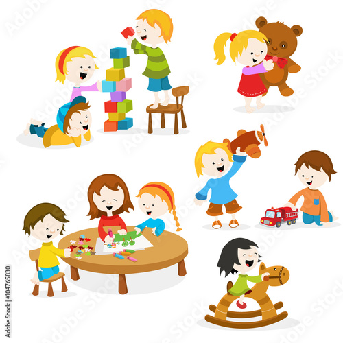 Girl Skate Logo Wallpaper Quot Kids Playing With Toys Quot Stock Image And Royalty Free