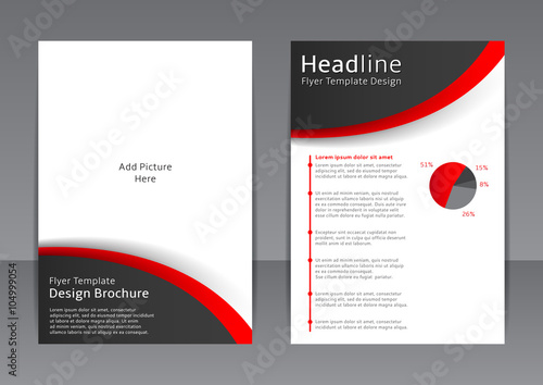 Vector design of the black and white flyer, cover, brochure, poster