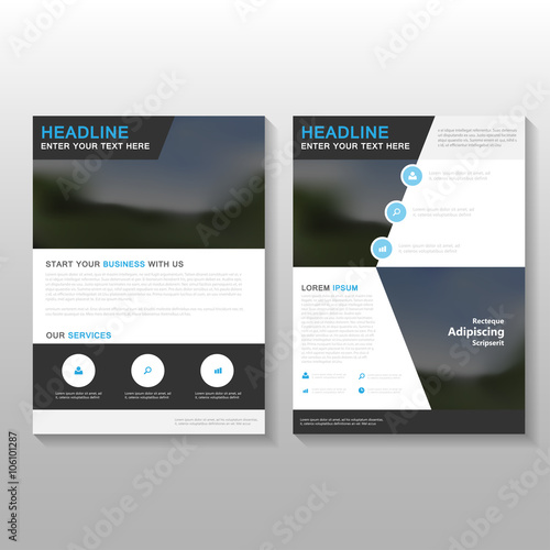 Black Elegance Vector Leaflet Brochure Flyer business proposal