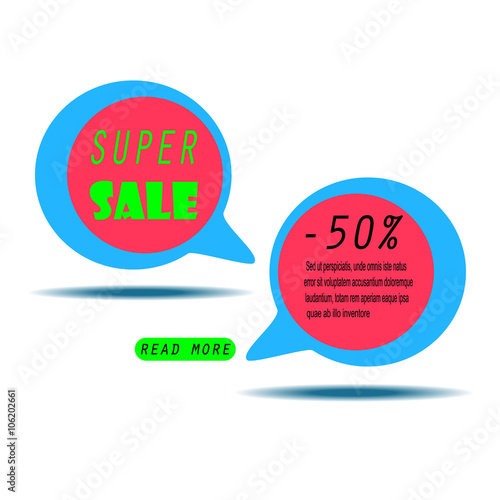 Colorful Sale Banner with text Super Sale Sale template Big sale - sale tag template