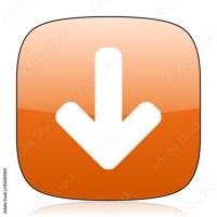 """""""download arrow orange square web design glossy icon ..."""