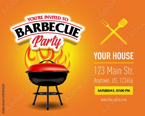 Barbecue party design, Barbecue invitation Barbecue logo BBQ - bbq invitation template
