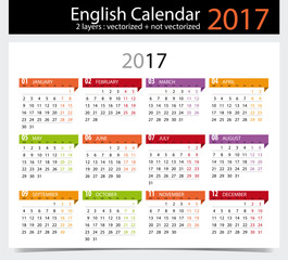 Calendar 2017 Indonesia