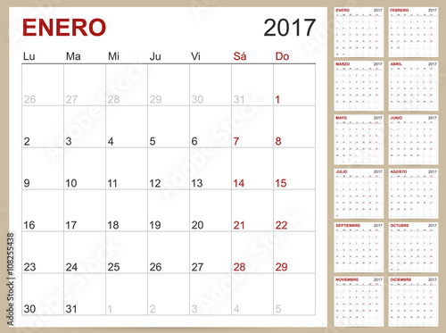 Free Spanish Calendar Download Photo Calendar Software With 150 Templates Free Download Quot;spanish Planning Calendar Template 2017 Set Of 12 Months