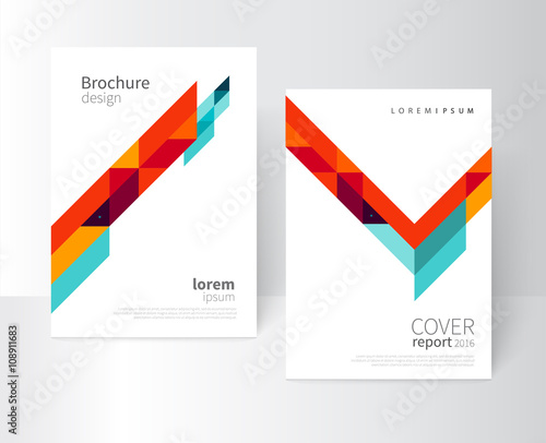 Brochure design Flyer, booklet, annual report cover template a4