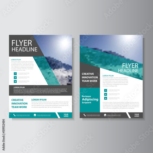 Green Vector business proposal Leaflet Brochure Flyer template