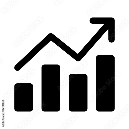 Growth chart / chart graph flat icon for apps and websites \ - chart and graph