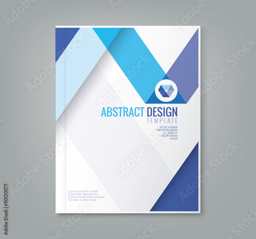 abstract line design background template for business annual report