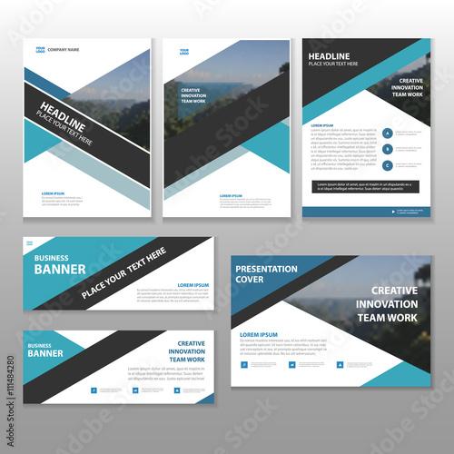 Blue black Multipurpose corporate business proposal brochure flyer - leaflet template