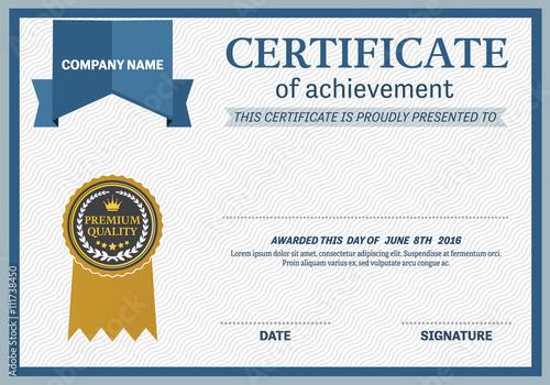 certificate template vector illustration design, gold medal - gold medal templates