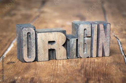 origin word wood\
