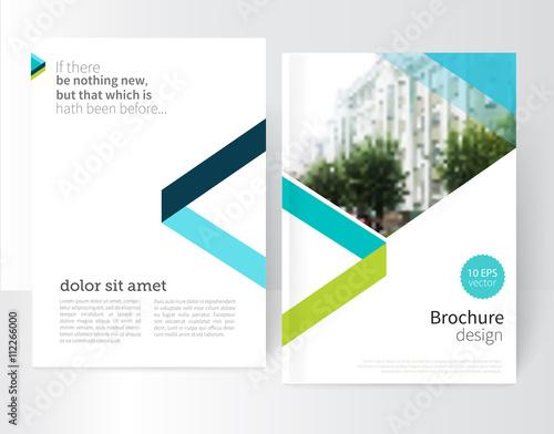 white Brochure, leaflet, flyer, cover template Modern Geometric