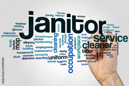 Janitor word cloud\