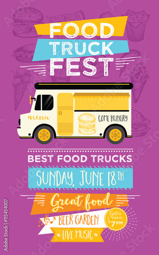 Food truck party invitation Food menu template design Food flyer - food truck menu template