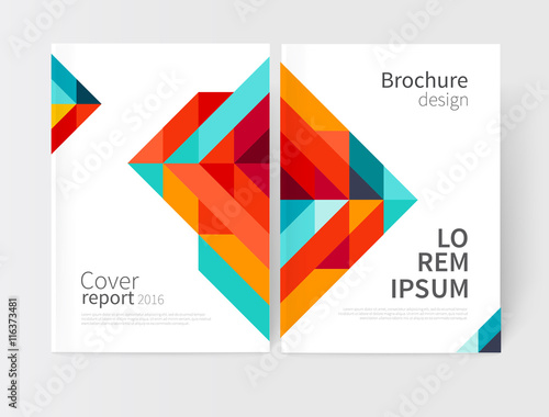 Minimalistic White cover Brochure design Flyer, booklet, annual