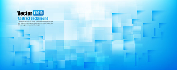 Abstract background light blue with basic geometry element vecto - basic blue background