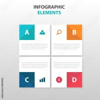 """""""Abstract 4 square business Infographics elements ..."""