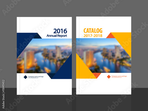 Cover design for annual report and business catalog, magazine, flyer
