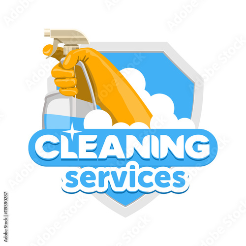 cleaning service logo\