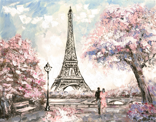 Sakura Falling Live Wallpaper Quot Oil Painting Street View Of Paris Tender Landscape