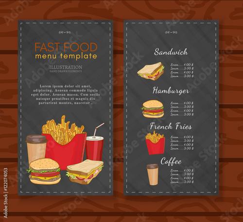 Fast food menu design template fast food vector\ - menu design template