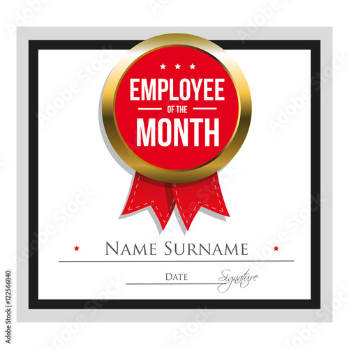 Employee of the month certificate template\ - free employee of the month certificate template