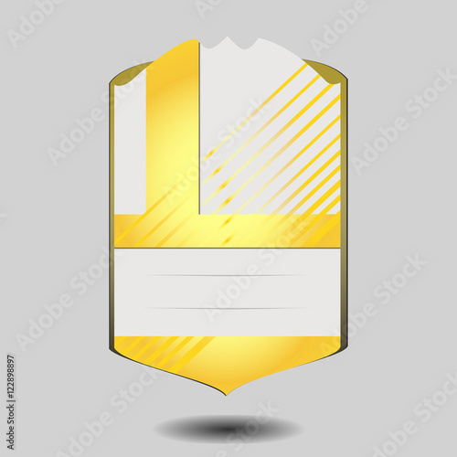 vector football player card template isolated on gray background