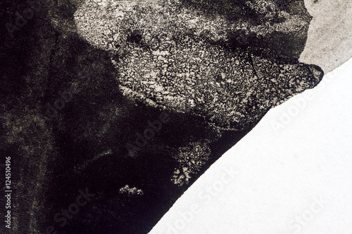 Abstract black watercolor background\